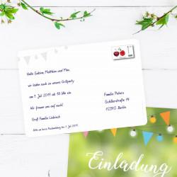 5 Einladungskarten Grillparty Gartenparty inkl. 5 Briefumschlägen