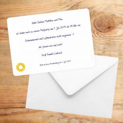 1 Einladungskarte Grillparty Gartenparty inkl. 1 Briefumschlag
