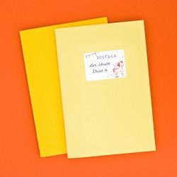 72 Blanko Etiketten Einhorn - 64 x 45 mm - Namensetiketten Mädchen