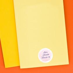 24 Universaletiketten - pastell - rund 4 cm Ø - Haushaltsetiketten Sticker Aufkleber