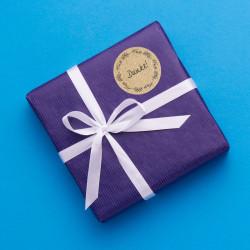 24 Universaletiketten - Blumenranke Kraftpapieroptik - rund 4 cm Ø - Haushaltsetiketten Sticker Aufkleber