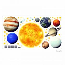 164 Wandtattoo Sonnensystem Planeten