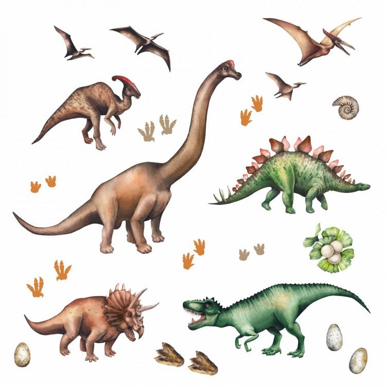 167 wandtattoo dinosaurier trex triceratops stegosaurus