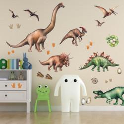 167 Wandtattoo Dinosaurier T-Rex, Triceratops, Stegosaurus