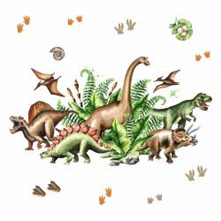 168 Wandtattoo Dinosaurier - T-Rex, Triceratops, Stegosaurus, ...
