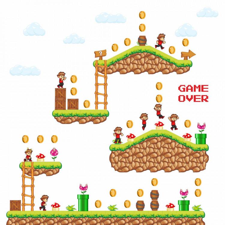 169 Wandtattoo Spielwelt Gaming
