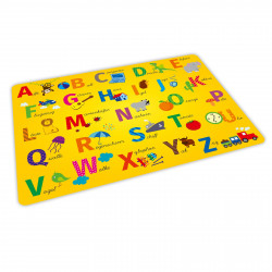 stabiles Vinyl Tischset - ABC gelb