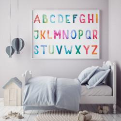 Kinder Lernposter ABC Watercolor - Wanddeko Kinderzimmer
