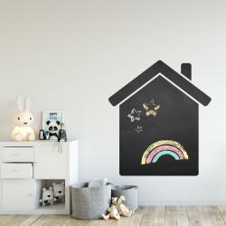 001 Haus - selbstklebende Tafelfolie/ Kreidefolie inkl. 3 Stück Kreide
