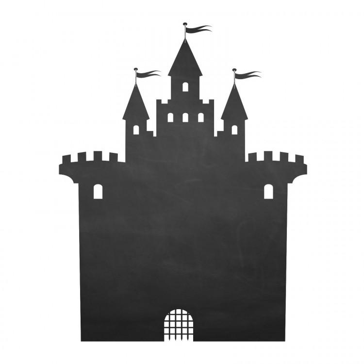 002 Burg - selbstklebende Tafelfolie/ Kreidefolie inkl. 3 Stück Kreide