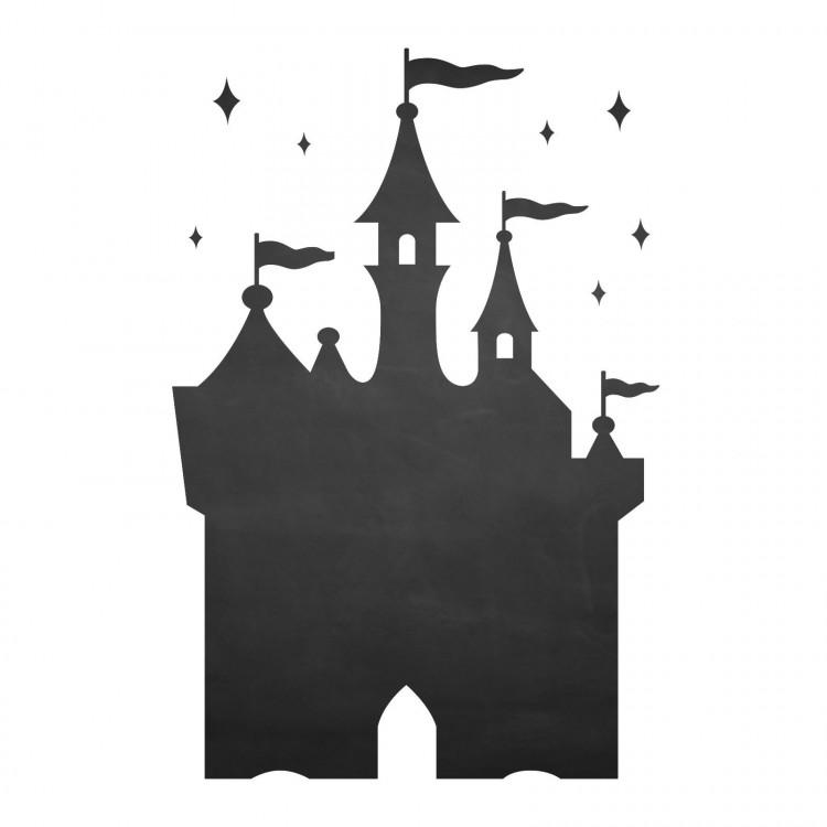 003 Schloss - selbstklebende Tafelfolie/ Kreidefolie inkl. 3 Stück Kreide