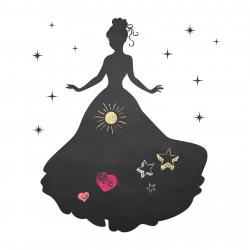 004 Prinzessin - selbstklebende Tafelfolie/ Kreidefolie inkl. 3 Stück Kreide