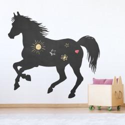007 Pferd 2 - selbstklebende Tafelfolie/ Kreidefolie inkl. 3 Stück Kreide