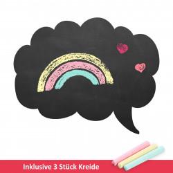 009 Sprechblase Wolke - selbstklebende Tafelfolie/ Kreidefolie inkl. 3 Stück Kreide