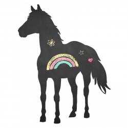 006 Pferd - selbstklebende Tafelfolie/ Kreidefolie inkl. 3 Stück Kreide