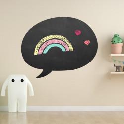 008 Sprechblase - selbstklebende Tafelfolie/ Kreidefolie inkl. 3 Stück Kreide