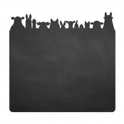 013 Tierköpfe - selbstklebende Tafelfolie/ Kreidefolie inkl. 3 Stück Kreide