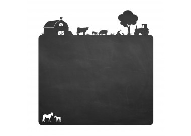 014 Bauernhof - selbstklebende Tafelfolie/ Kreidefolie inkl. 3 Stück Kreide