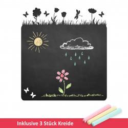 015 Blumenwiese Schmetterlinge - selbstklebende Tafelfolie/ Kreidefolie inkl. 3 Stück Kreide