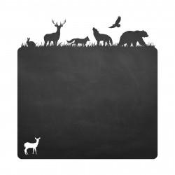 016 Waldtiere - selbstklebende Tafelfolie/ Kreidefolie inkl. 3 Stück Kreide
