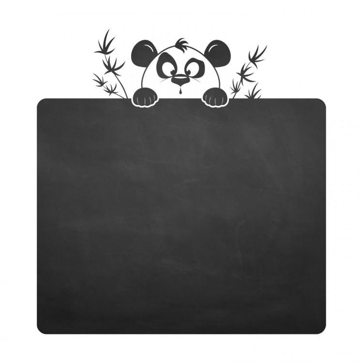 017 Pandabär - selbstklebende Tafelfolie/ Kreidefolie inkl. 3 Stück Kreide
