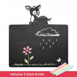 018 Rehkitz - selbstklebende Tafelfolie/ Kreidefolie inkl. 3 Stück Kreide