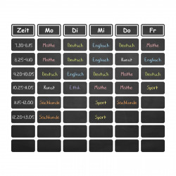 019 Stundenplan- selbstklebende Tafelfolie/ Kreidefolie inkl. 3 Stück Kreide