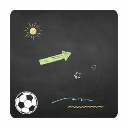 021 Fussball - selbstklebende Tafelfolie/ Kreidefolie inkl. 3 Stück Kreide