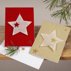 110 Glitzer Sticker Sterne ROT - Blatt 10 x 24 cm - Deko Aufkleber Adventskalender DIY Weihnachten Geschenkaufkleber