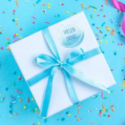 24 Vielen Dank! Aufkleber - Aquarell pastell - rund 4 cm Ø - Dankeaufkleber Sticker Hochzeit Gastgeschenk