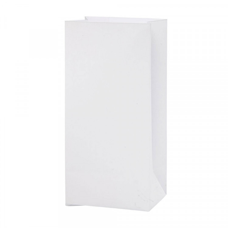 10 - 100 Papiertüten WEIß  H 22 cm - 6 x 10,5 cm | Geschenktüte Adventskalender DIY Mitgebseltüten Gastgeschenk