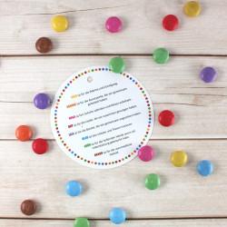 """5 Anhänger """"Vielen Dank für die wunschschöne farbenfrohe Zeit!"""" Kindergarten Kita Abschiedsgeschenk Erzieher"""