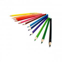 Stiftebecher Punkte petrol inkl. 12 Dreikant Buntstiften| Kinder Stifteköcher Stiftehalter Schreibtisch Organizer Mädchen