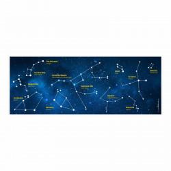 Stiftebecher Sternbilder inkl. 12 Dreikant Buntstiften| Kinder Stifteköcher Stiftehalter Schreibtisch Organizer Mädchen
