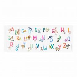 Stiftebecher Tier ABC Aquarell inkl. 12 Dreikant Buntstiften| Kinder Stifteköcher Stiftehalter Schreibtisch Organizer