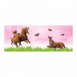 Stiftebecher Pferde rosa inkl. 12 Dreikant Buntstiften Kinder Stifteköcher Stiftehalter Schreibtisch Organizer Mädchen