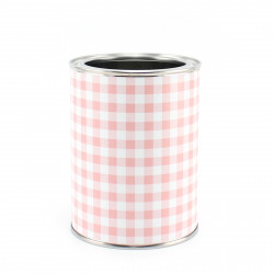 Stiftebecher Vichy Karo rosa inkl. 12 Dreikant Buntstiften| Kinder Stifteköcher Stiftehalter Schreibtisch Organizer Mädchen