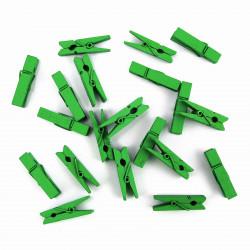 20 Mini Wäscheklammern Grün L 35 mm - Dekoklammern, Miniklammern, Klammern, Fotoklammer, Holzklammer
