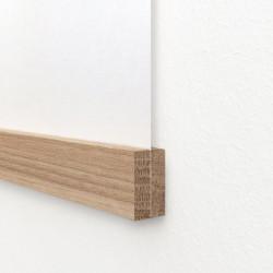 Magnetische Posterleiste für A4 quer und A3 hochkant geeignet - Eiche, unbehandelt, handgefertigt in Deutschland Holzleiste