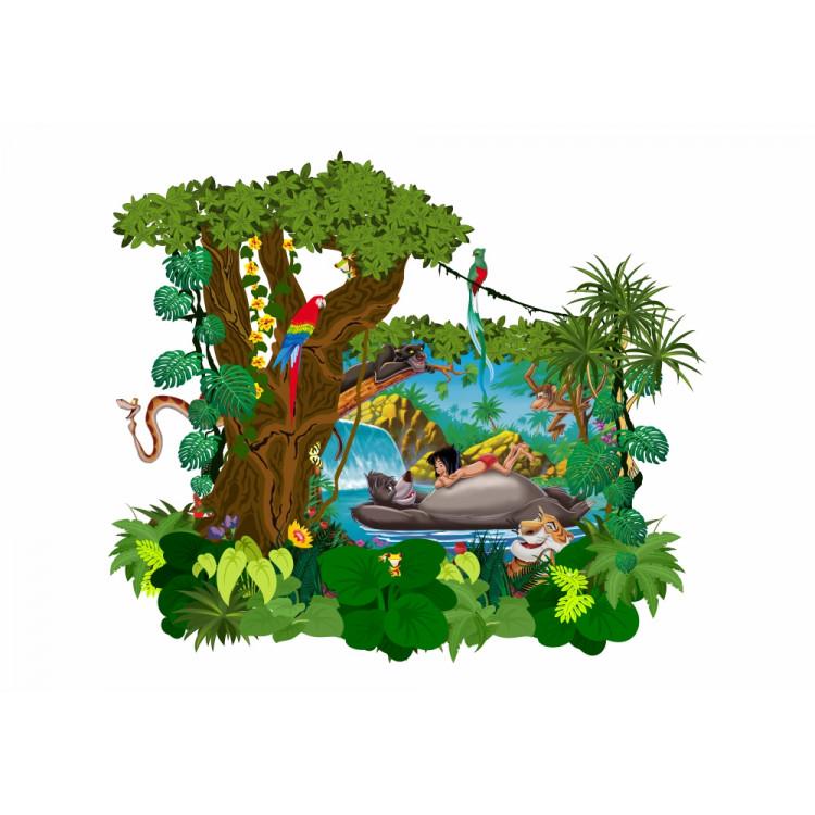 070 Wandtattoo Das Dschungelbuch