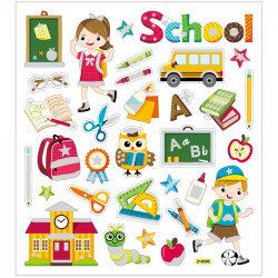Schul Sticker mit Glitzer