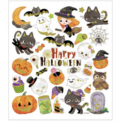 Halloween Sticker mit Metalliceffekt