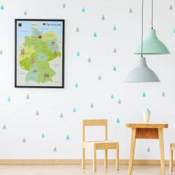 Kinder Lernposter - Deutschland Sehenswürdigkeiten 2 - Wanddeko Kinderzimmer