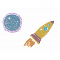 DJECO 12 metallische Buntstifte Farbstifte