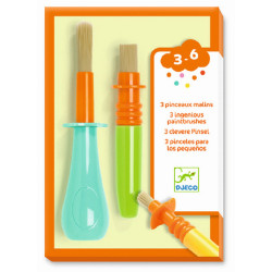 DJECO 3 clevere Pinsel für Kinder