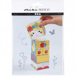 CREATIV COMPANY Mini-Kreativset - Stapelblöcke Prinzessin - Bastelset zum malen und falten