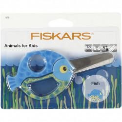 FISKARS Kinderschere Fisch blau - für Rechts- und Linkshänder