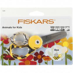 FISKARS Kinderschere Biene gelb - für Rechts- und Linkshänder