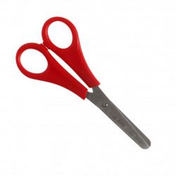 Kinderschere für Linkshänder - abgerundete Spitze - Bastelschere rot
