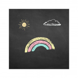 selbstklebende Tafelfolie/ Kreidefolie inkl. 3 Stück Kreide 1m Breit